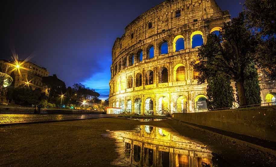 Colosseum Night Tour includes a visit to the arena